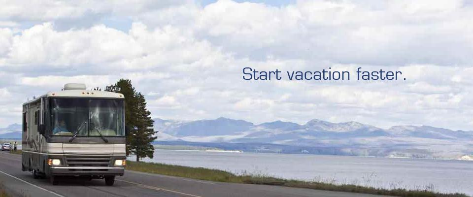 Start vacation faster.