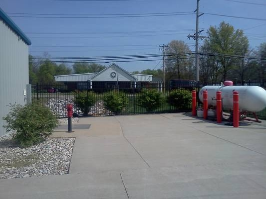Propane service station, facing road
